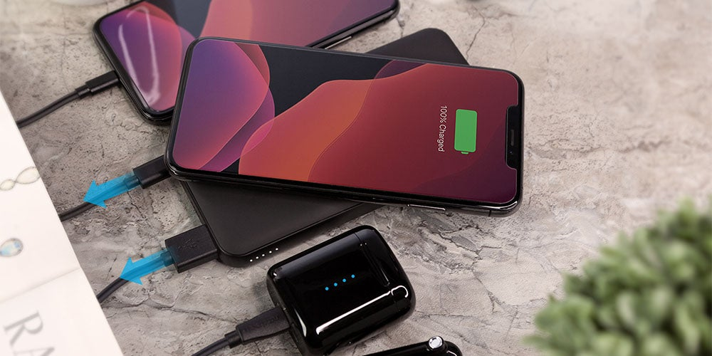 phone on a wireless charger