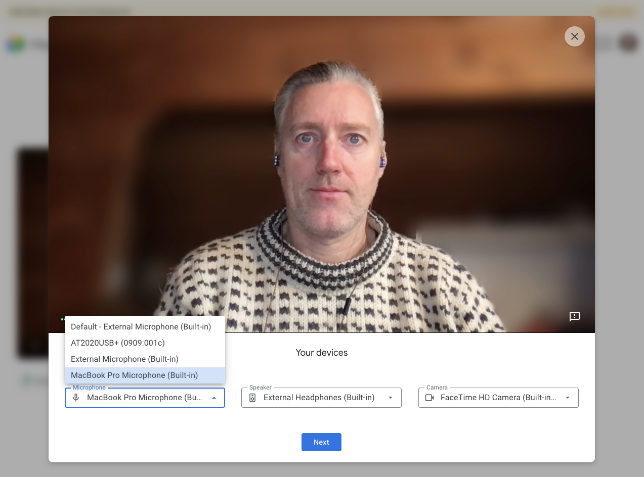 Preview of Google's Green Room video chat feature