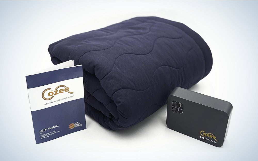 The Cozee Battery Powered Heated Blanket