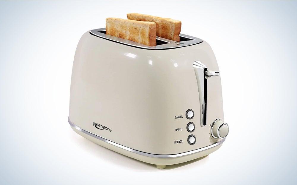 Keenstone 2 Slice Retro Stainless Steel Toaster