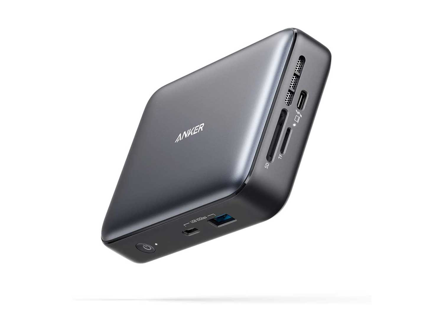 Anker Docking Station, PowerExpand 7-in-1 Thunderbolt 3 Mini Dock for USB-C Laptops, Max 45W Charging for Laptop, 4K HDMI, 1Gbps Ethernet, USB-A Gen 2, USB-C Gen 2, SD 4.0 (Power Cord Included)
