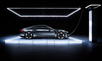 Audi's e-Tron GT charges up fast, but turns even faster