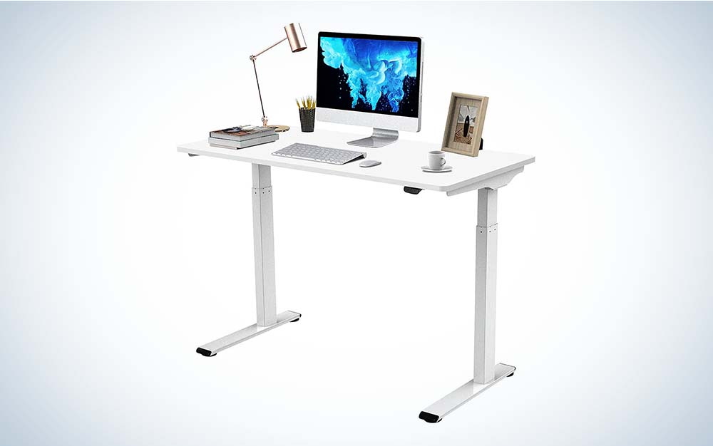 The Flexispot standing desk is the best model for small spaces.