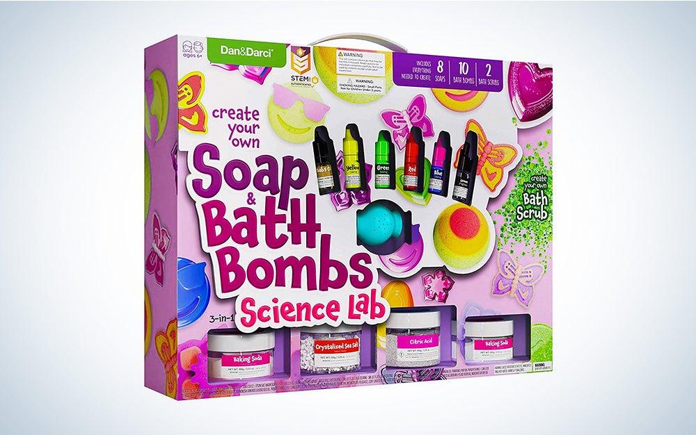 Soap & Bath Bomb Making Kit for Kids - 3-in-1 Spa Science Kits For Kids