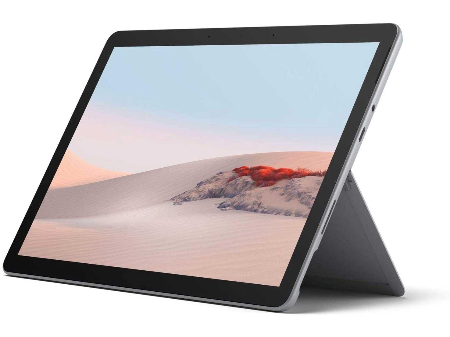 Microsoft Surface GO 2 10 Inch Tablet PC - (Silver) (Intel Pentium Gold Processor 4425Y, 4 GB RAM, 64 GB eMMC, Windows 10 Home in S Mode, 2020 Model)