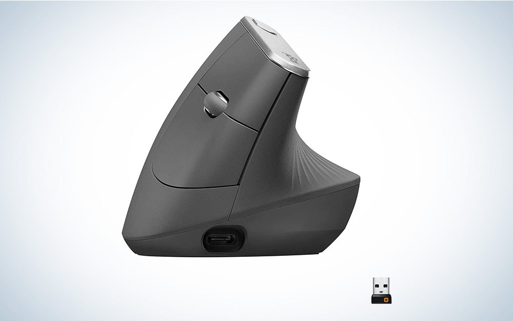 Logitech MX Vertical Wireless Mouse is the best ergonomic mouse