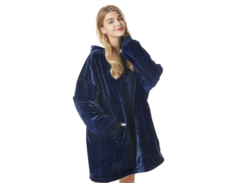 Felicigeely Blanket Sweatshirt,Oversized Wearable Blanket,Super Soft Warm Comfortable Hooded Blanket with Pocket for Adults Men Women Teens Friends