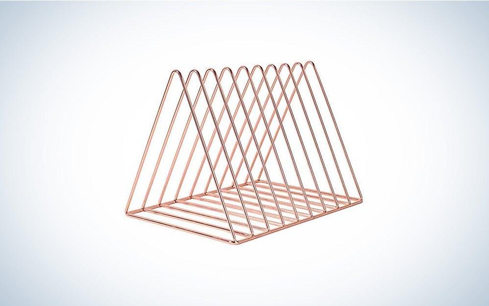 PENGKE File Organizer Triangle Iron Desktop Storage