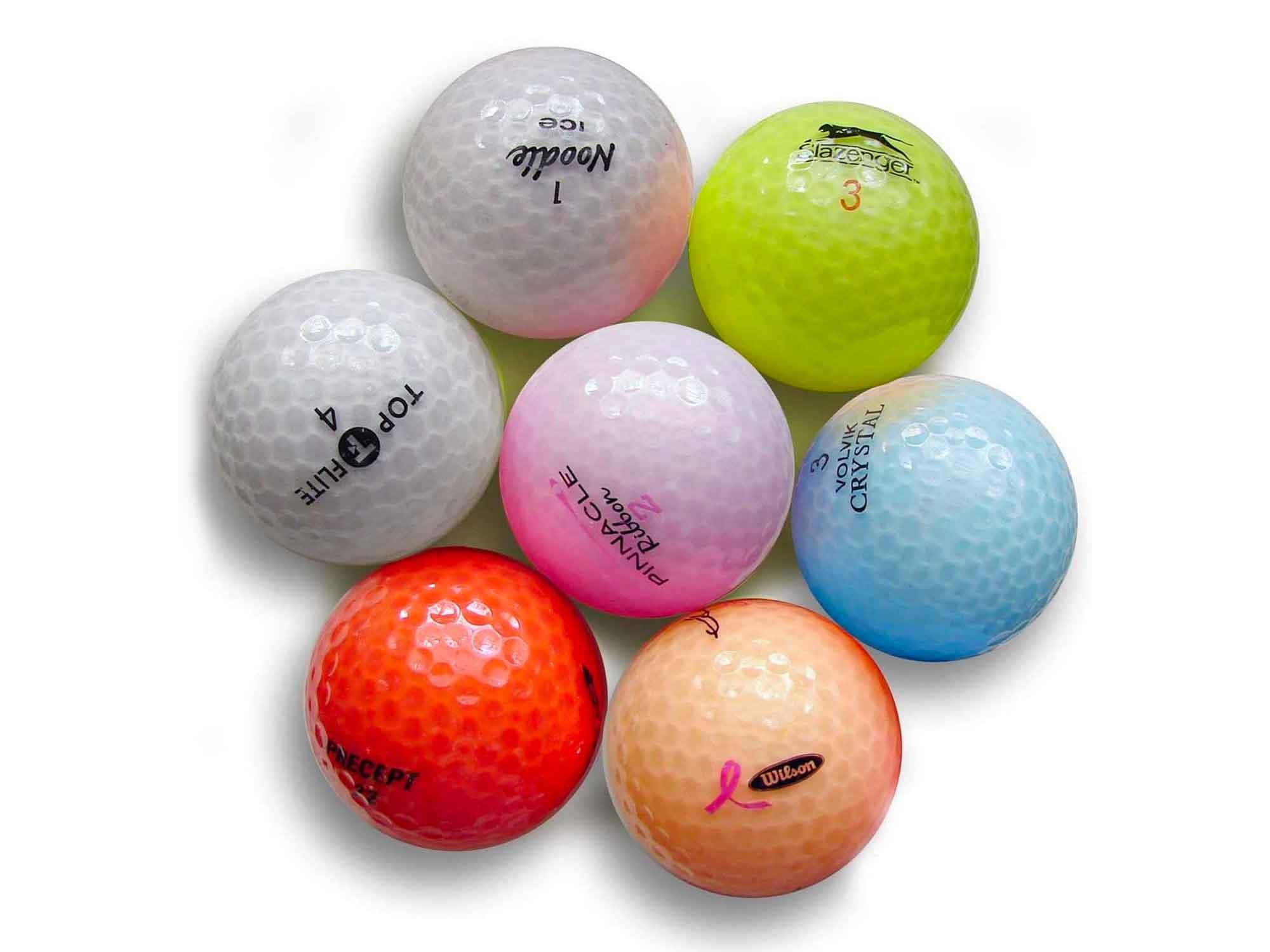 Pink Optix Crystal Pro Brand Mix Mint Quality Golf Balls - 24 Pack, White, One Size