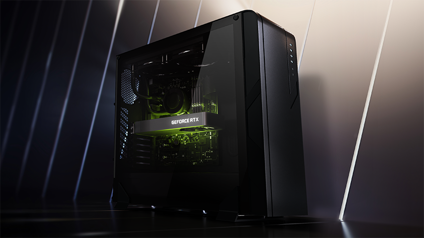 A computer with an Nvidia RTX 3060 graphics card installed.