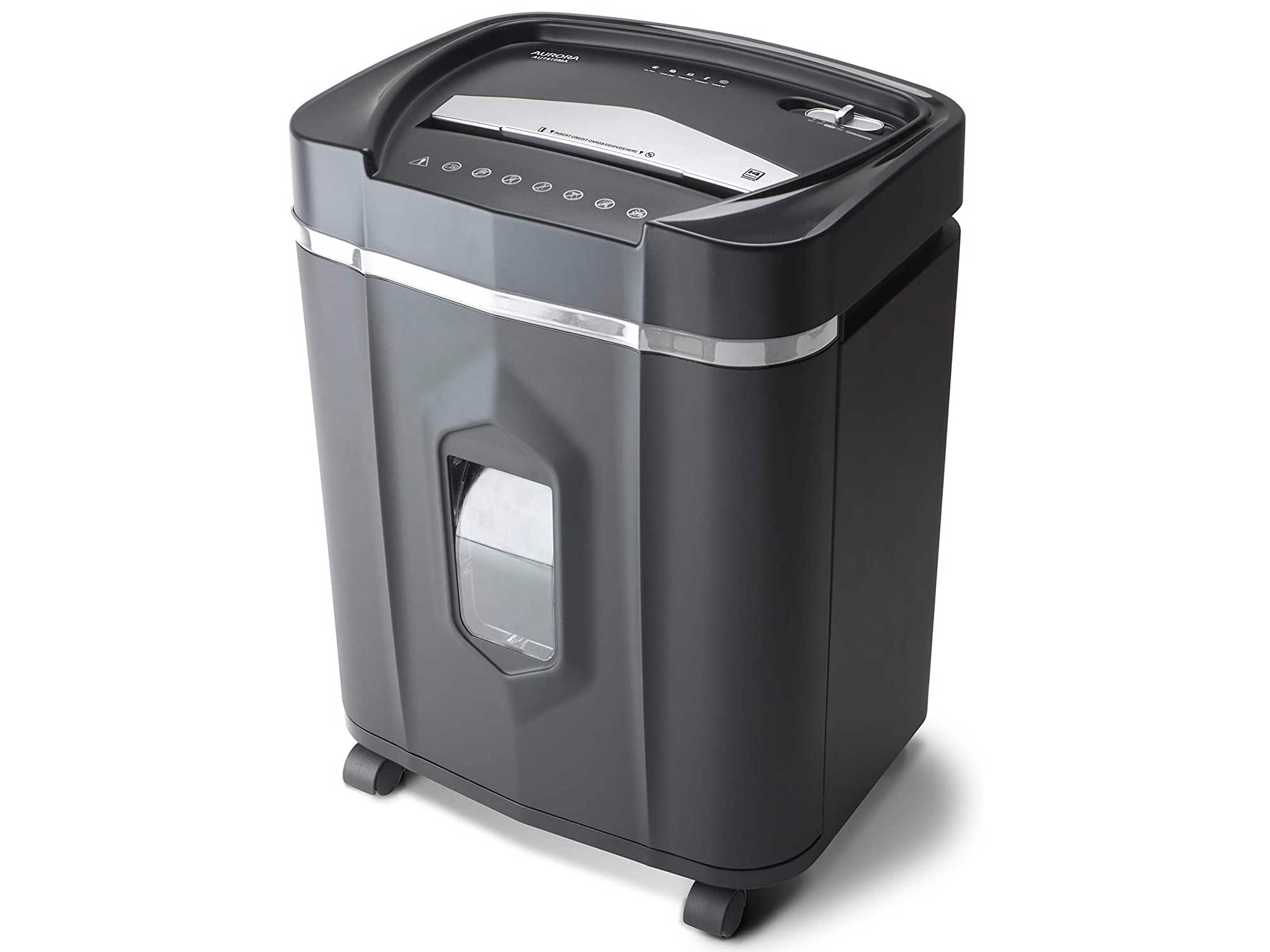 Aurora Professional Grade High Security 12-Sheet Micro-Cut Paper/CD and Credit Card/ 60 Minutes Continuous Run Time Shredder