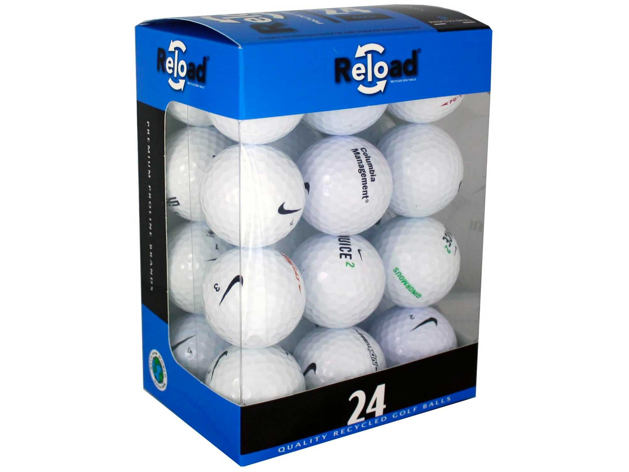 Nike Mix Golf Balls - Top Styles! 24 Near Mint Quality Used Golf Balls (AAAA RBZ One Tour and More golfballs!), White, One Size