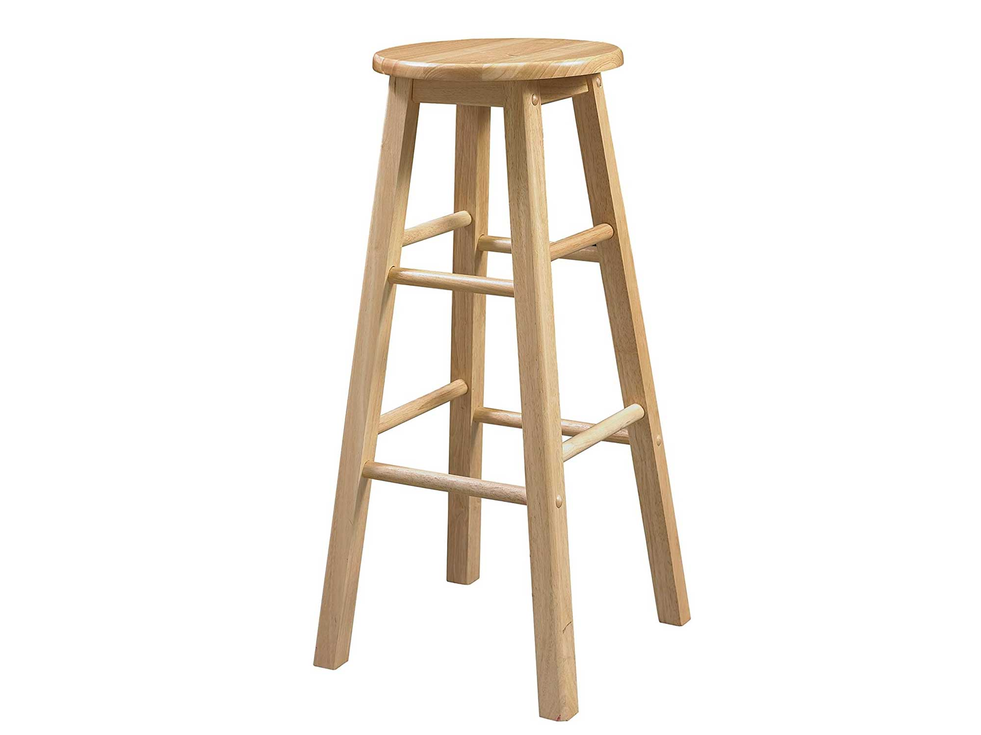 Linon 29-Inch Barstool With Round Seat