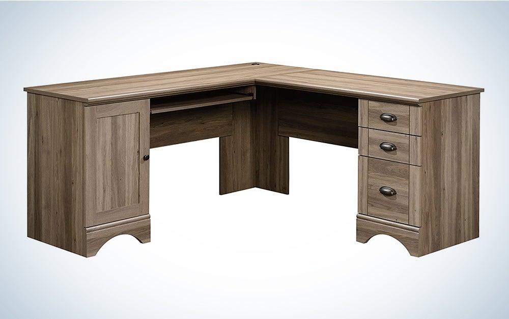 Sauder Harbor l shaped Desk