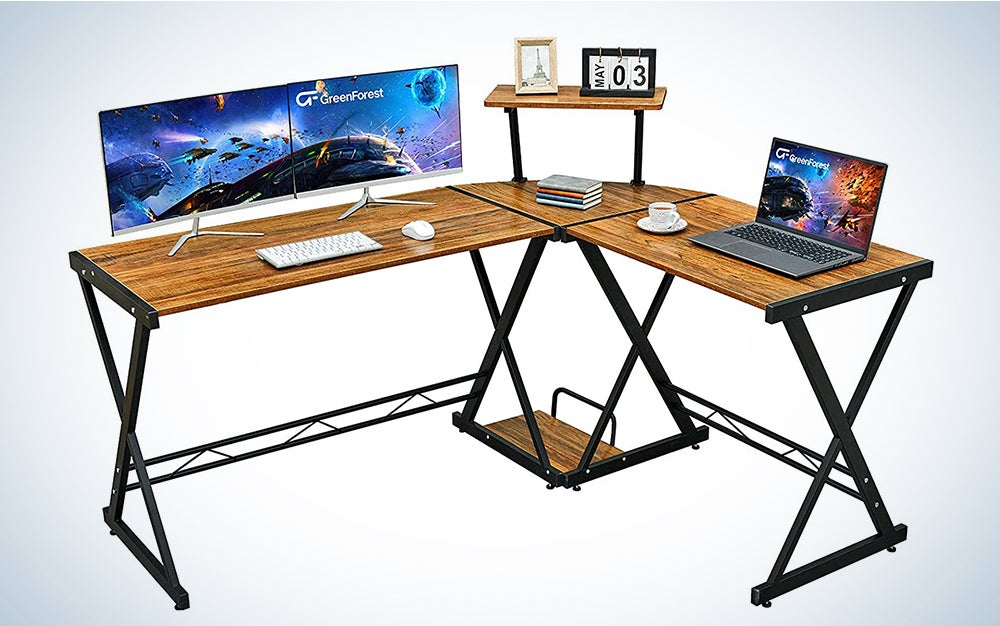Reversible L shaped Desk