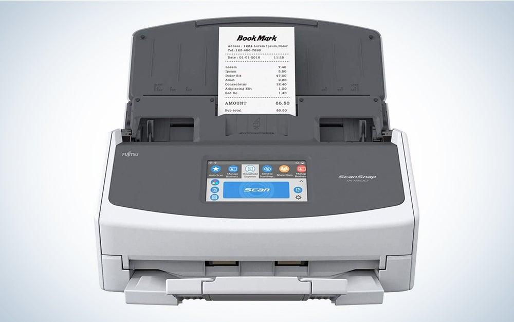Fujitsu ScanSnap iX1500 Deluxe with Adobe Acrobat DC Pro for Mac & PC (White
