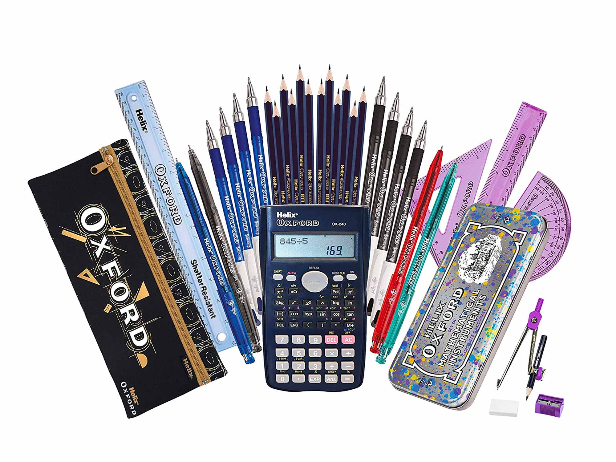 Helix Oxford Complete Back to School Stationery Set