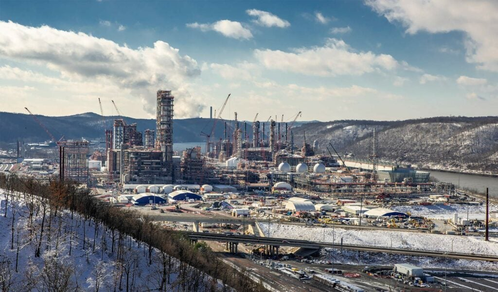 The Shell Pennsylvania Petrochemicals Complex under construction