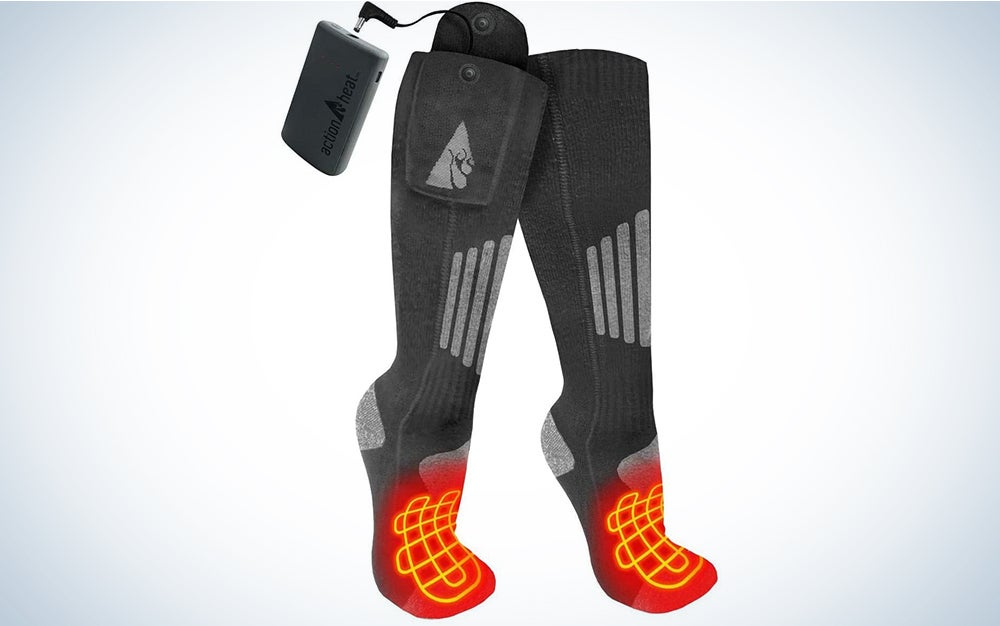 ActionHeat 3.7V Rechargeable Battery Heated Socks 2.0