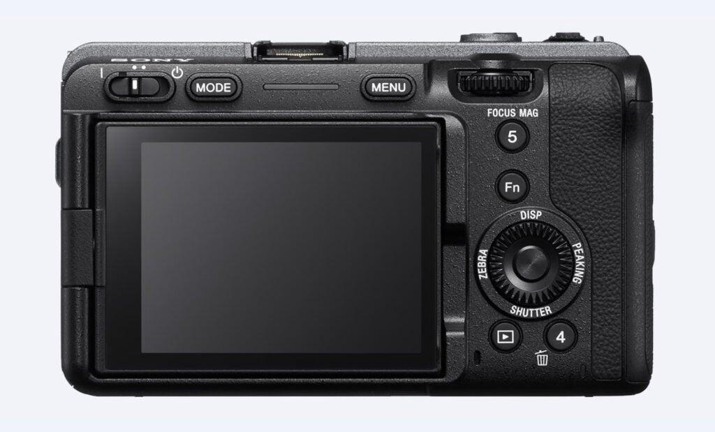 Sony FX3 cinema camera back view