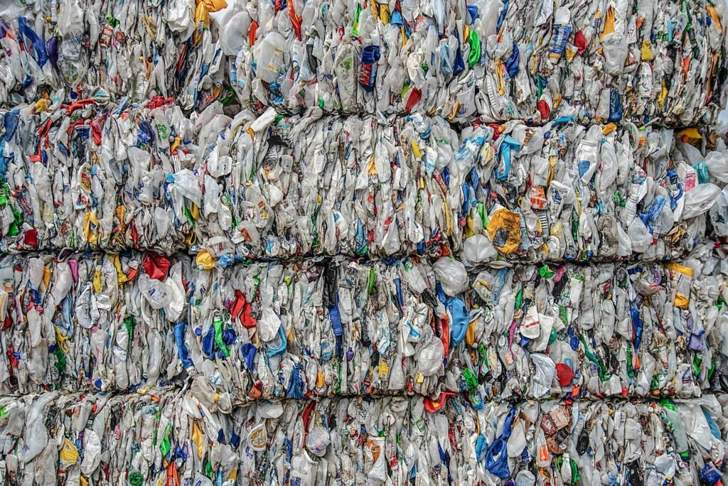 Plastic bales at Greenstar Recycling
