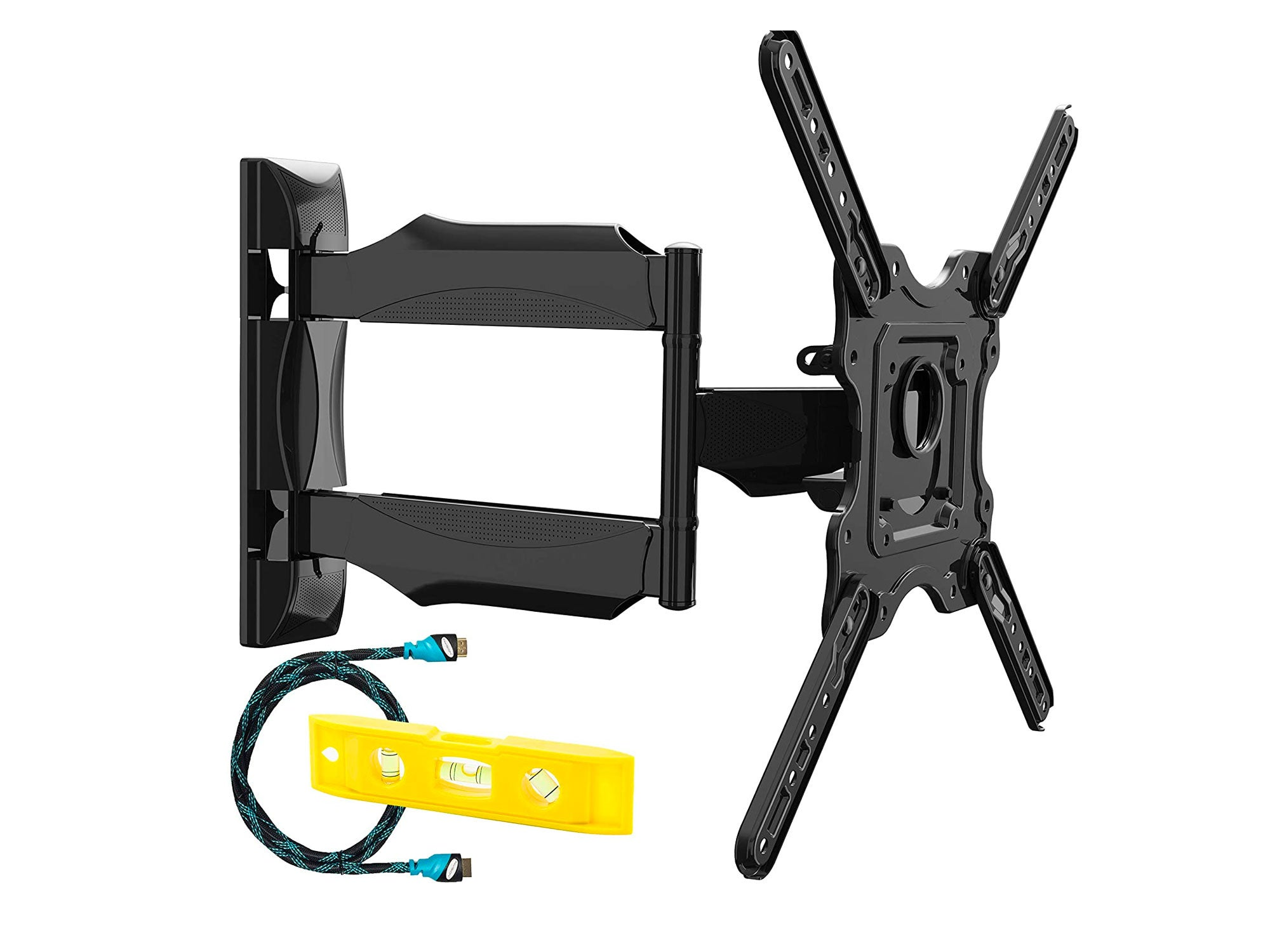 Invision TV Wall Bracket Mount for 24-55 Inch Screens, VESA 100x100mm up to 400x400mm, Tilts Swivels & Extends for Flat & Curved TVs, Includes Spirit Level, Weight Capacity 36.2kg [HDTV-E]