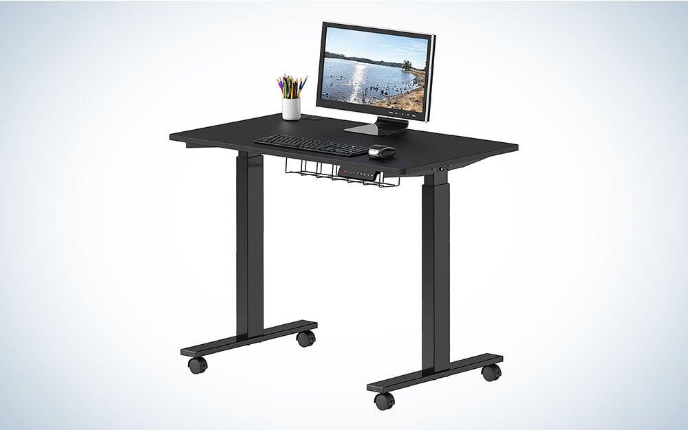 SHW Electric Height Adjustable Desk, 40″