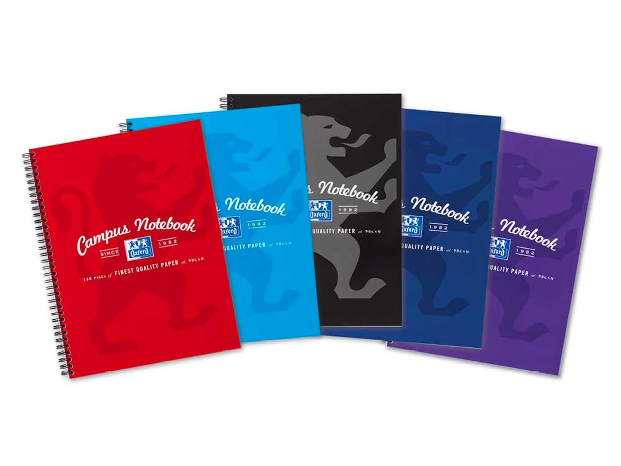 Oxford Campus, A4 Notebook, Lined, 140 Page, Assorted Colours