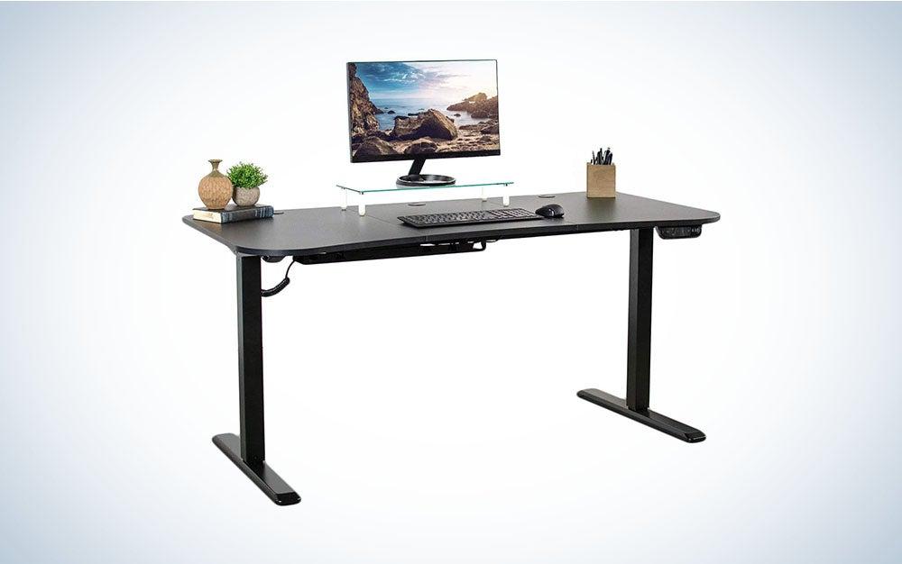 VIVO Black Electric Height Adjustable Stand Up Desk