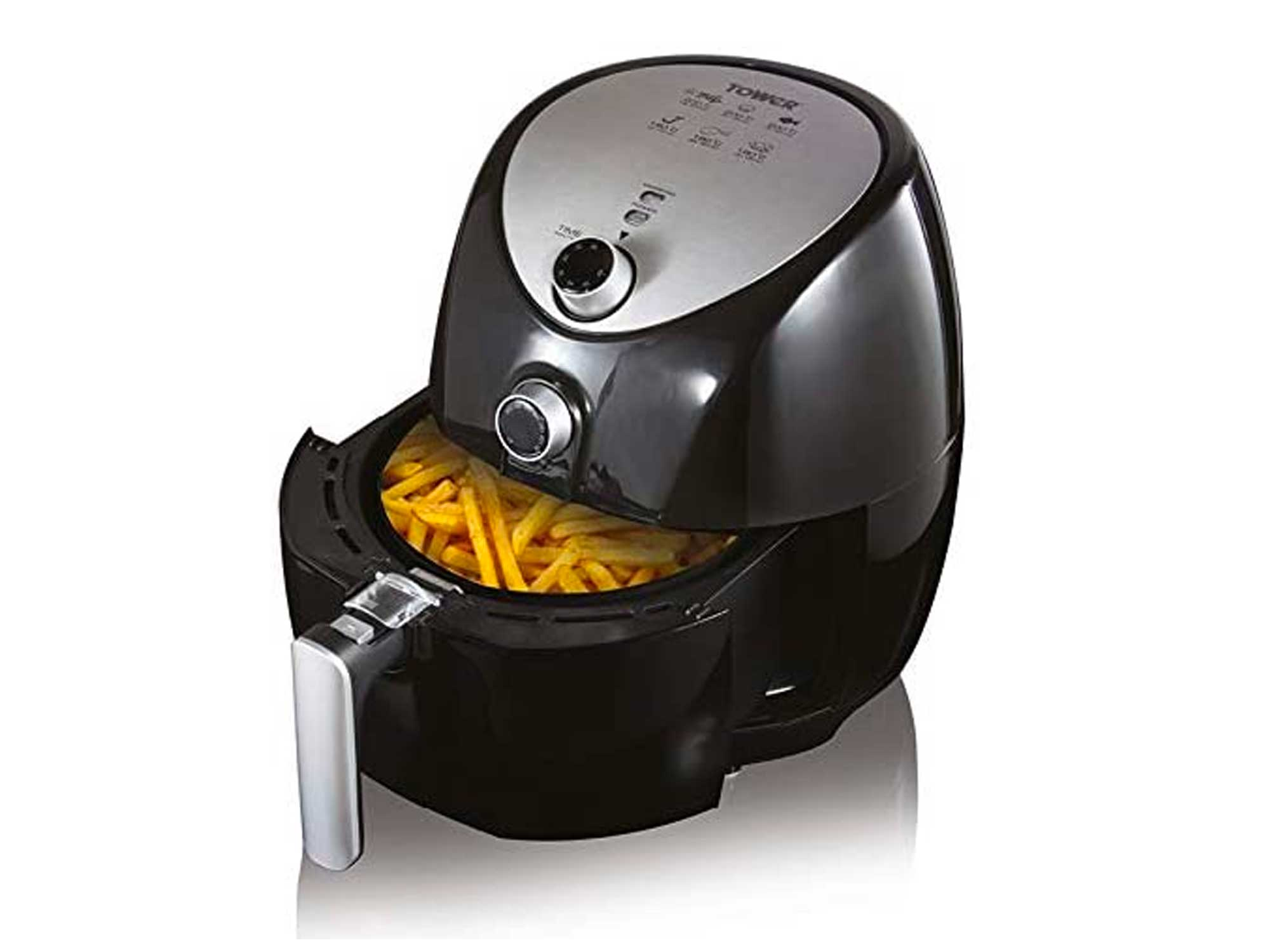 Tower Manual Air Fryer Oven with Rapid Air Circulation and 60 Min Timer, 4.3 Litre