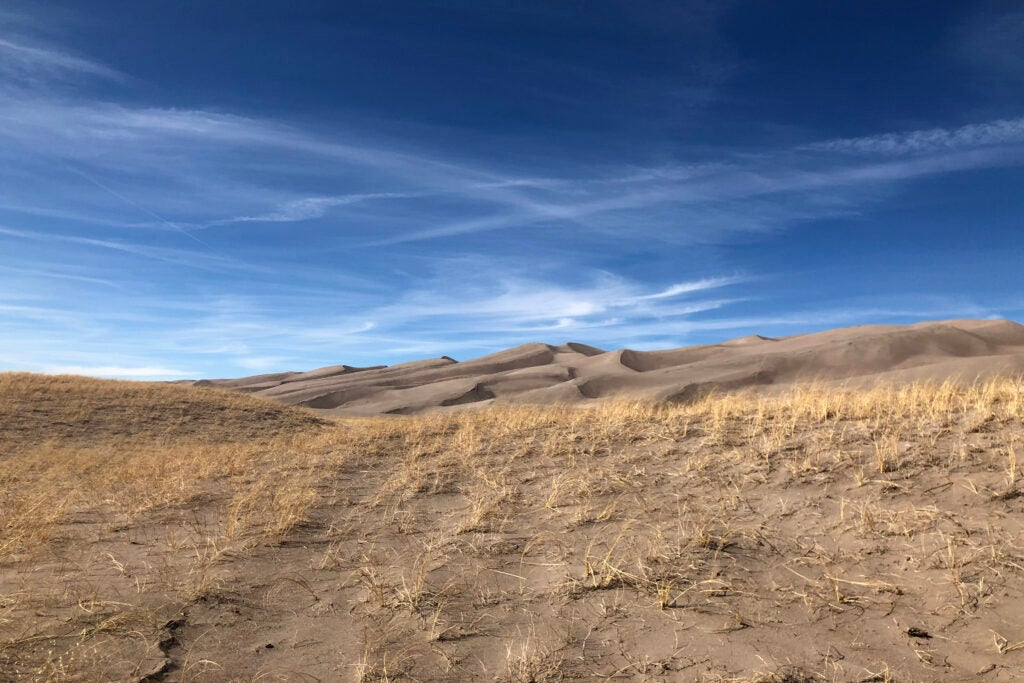 Great Sand Dunes National Park and Preserve in Colorado. Hunting is allowed in the preserve (not pictured).
