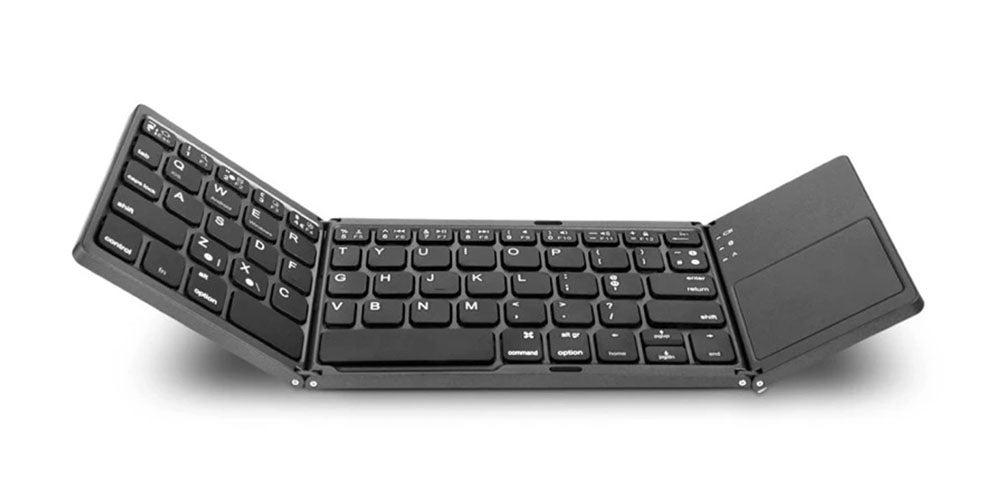 Universal Mini Foldable Wireless Keyboard with Touch-Pad
