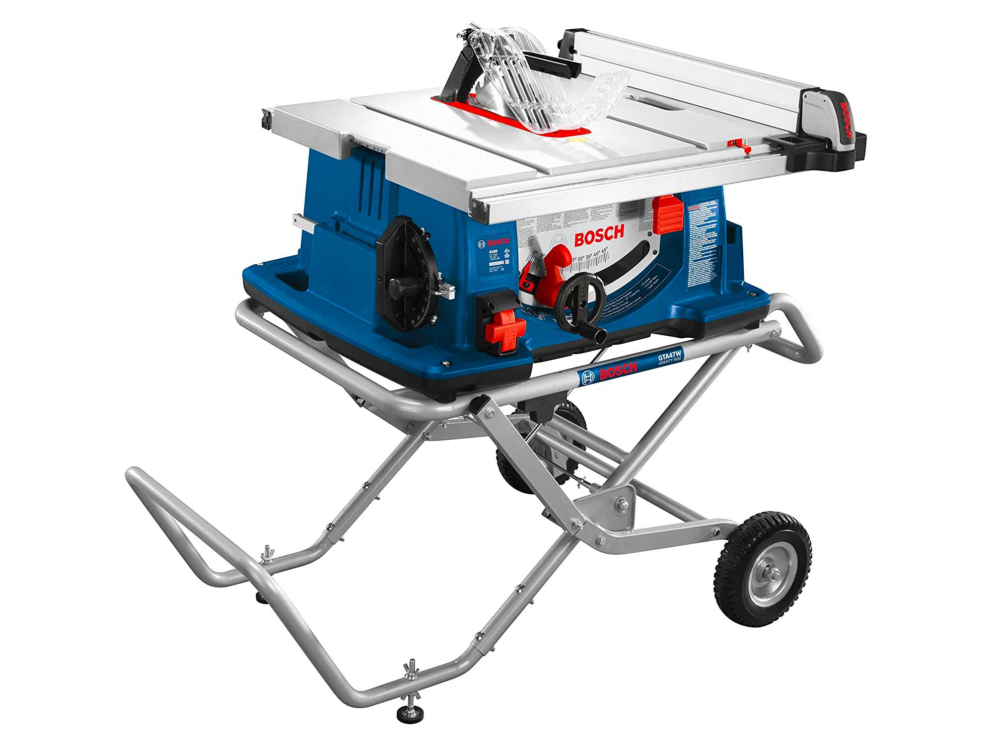 Bosch Power Tools Tablesaw - 10 Inch Jobsite Table Saw with 25 Inch Cutting Capacity and Portable Folding Table Stand