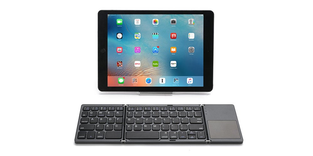 Foldable Bluetooth Keyboard with Touch-Pad
