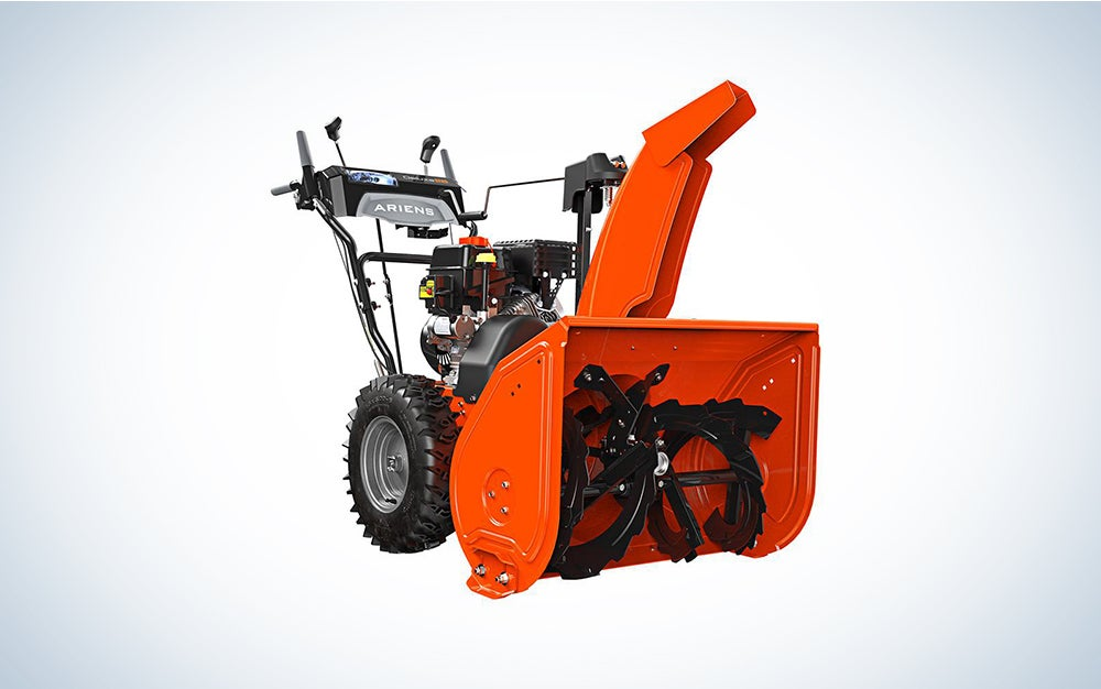 Ariens Deluxe 28-in 254-cc Two-Stage Self-Propelled Gas Snow Blower with Push-Button Electric Start;