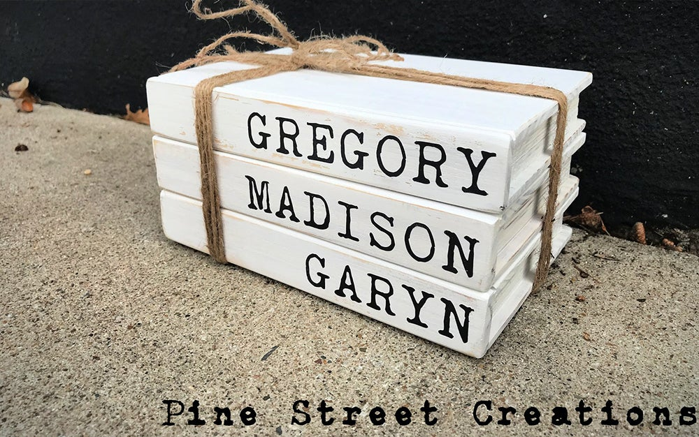 Personalized Wooden Books