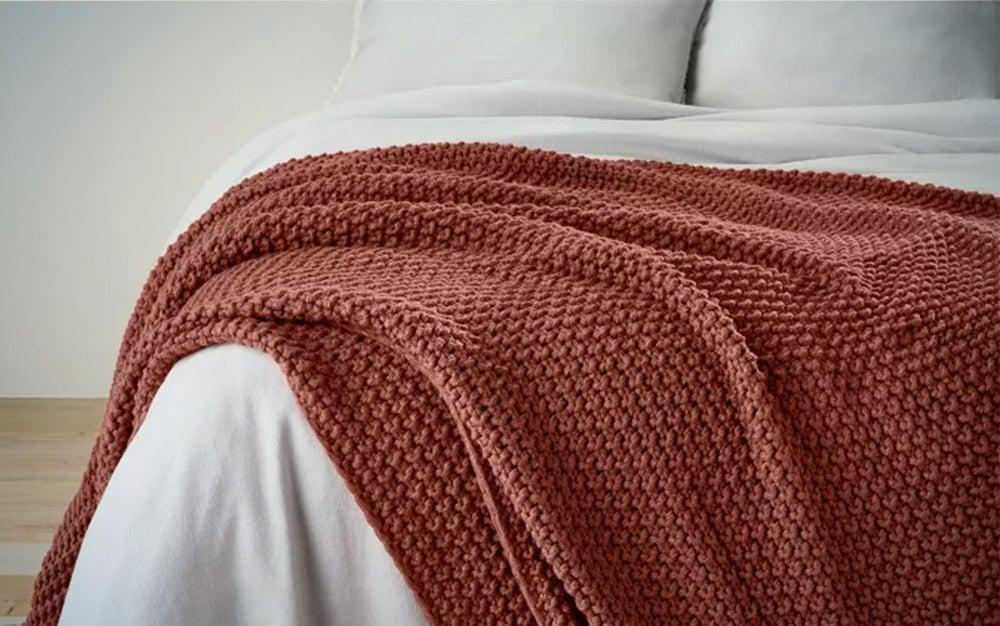 Casaluna Chunky Knit Bed Blanket