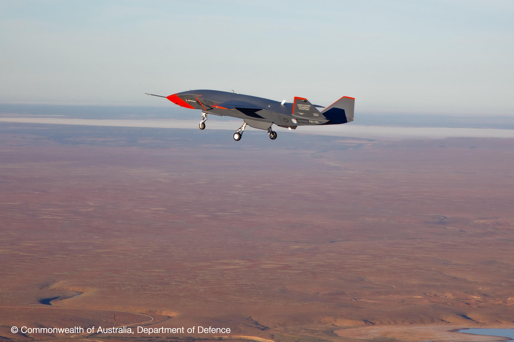A Boeing drone flying in Australia.