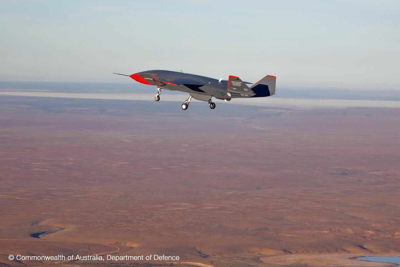 A Boeing drone flying in Australia.