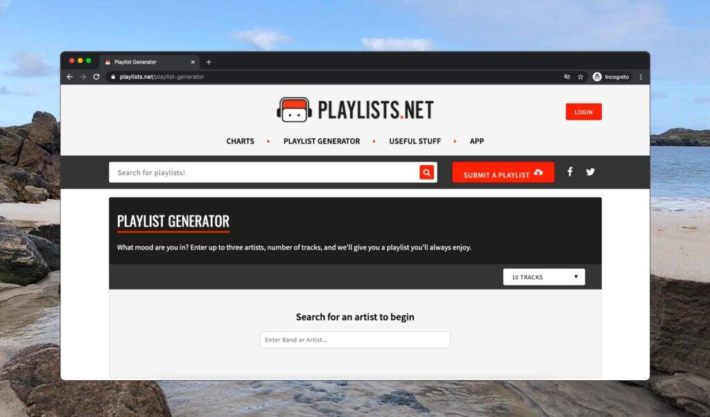 Playlists.net's playlist generator.