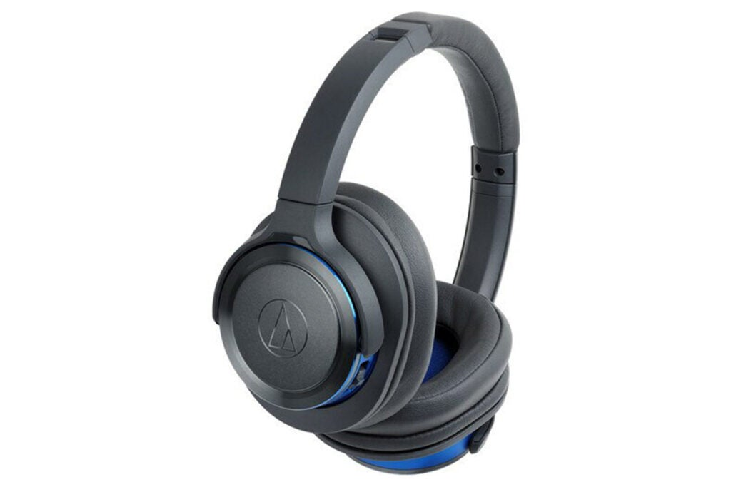 Audio-Technica ATH-WS660BT Solid Bass Wireless Over-Ear Headphones (Refurbished)