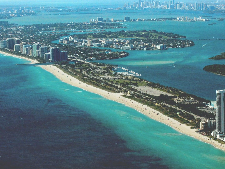 miami beach seen from the air