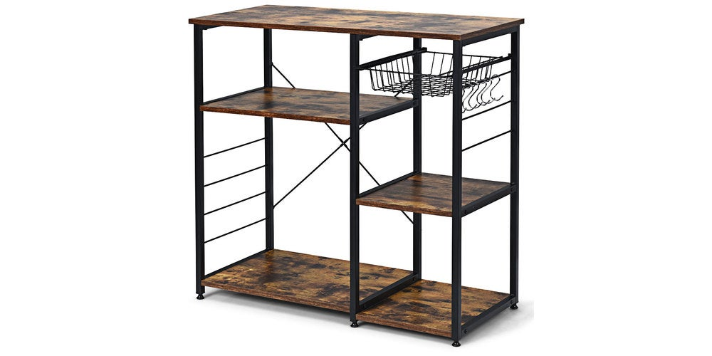 Industrial Kitchen Baker's Rack Microwave Stand