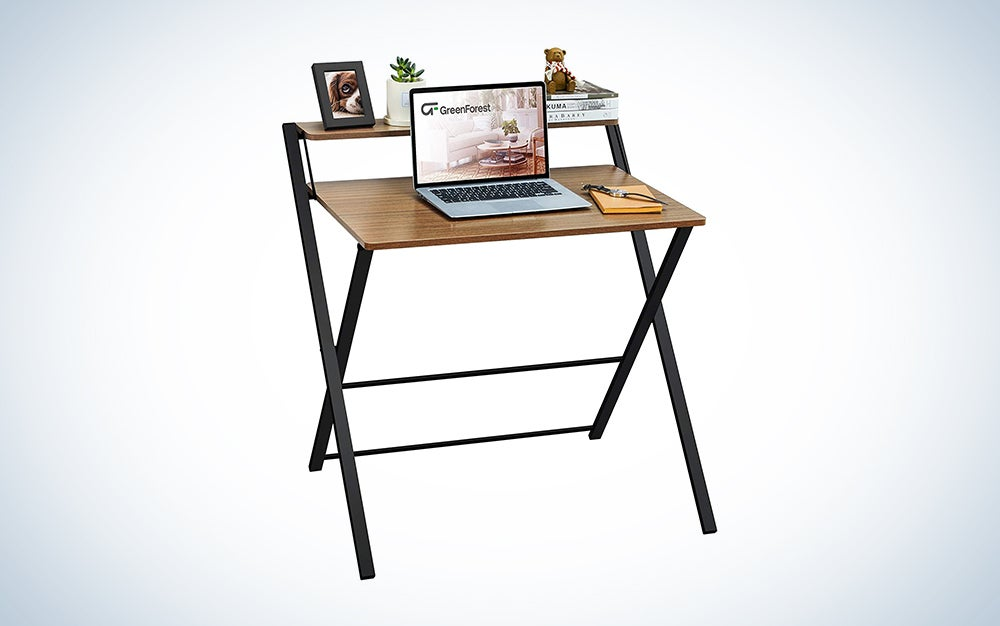 GreenForest 2-Tier Folding Desk