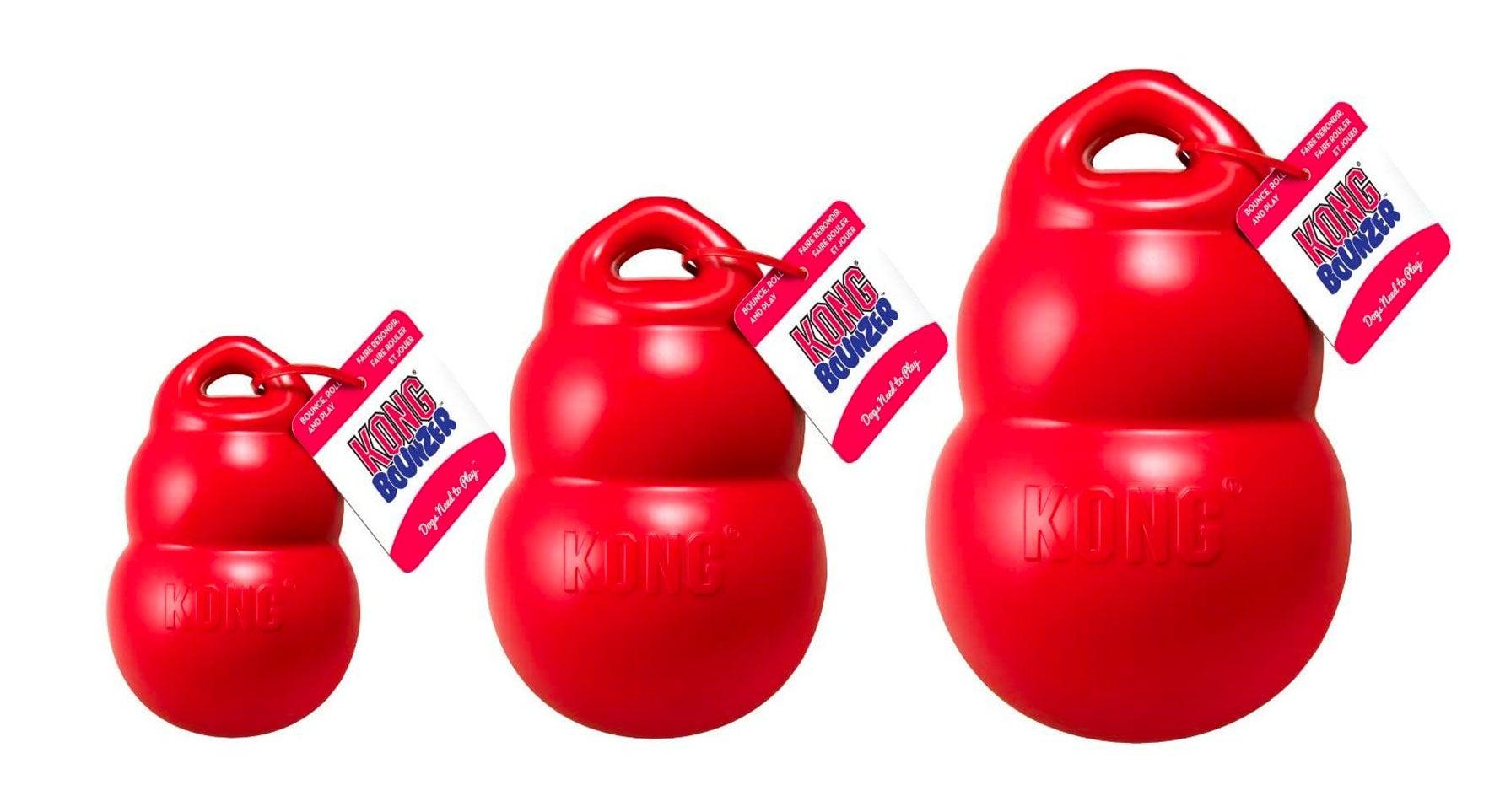 KONG Bounzer Dog Toy, Medium, Red