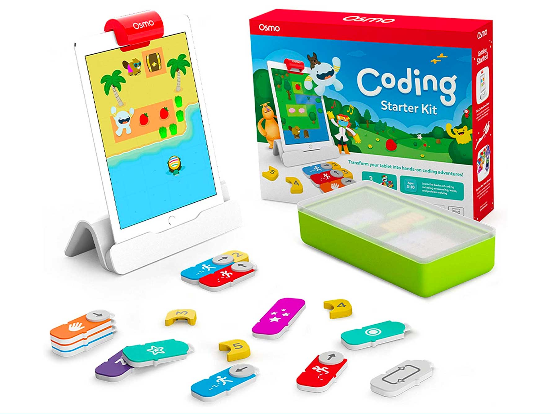 Osmo - Coding Starter Kit for iPad - 3 Educational Learning Games - Ages 5-10+ - Learn to Code, Coding Basics & Coding Puzzles