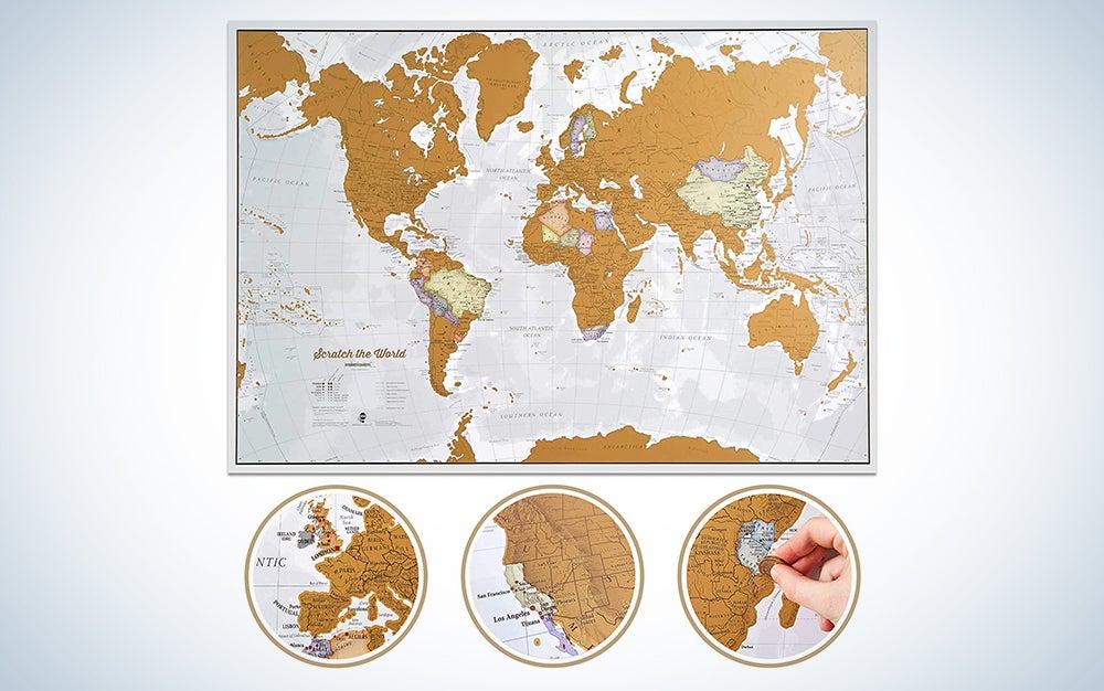 Scratch The World Travel Map - Scratch Off World Map Poster