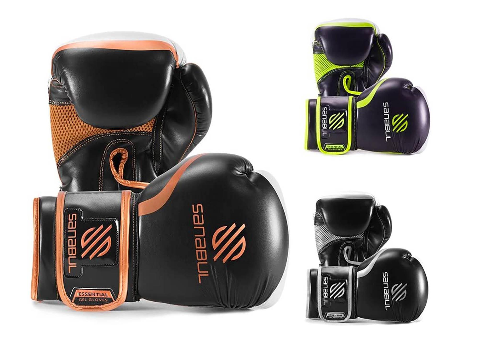 Sanabul Essential Gel Boxing Kickboxing Punching Bag Gloves