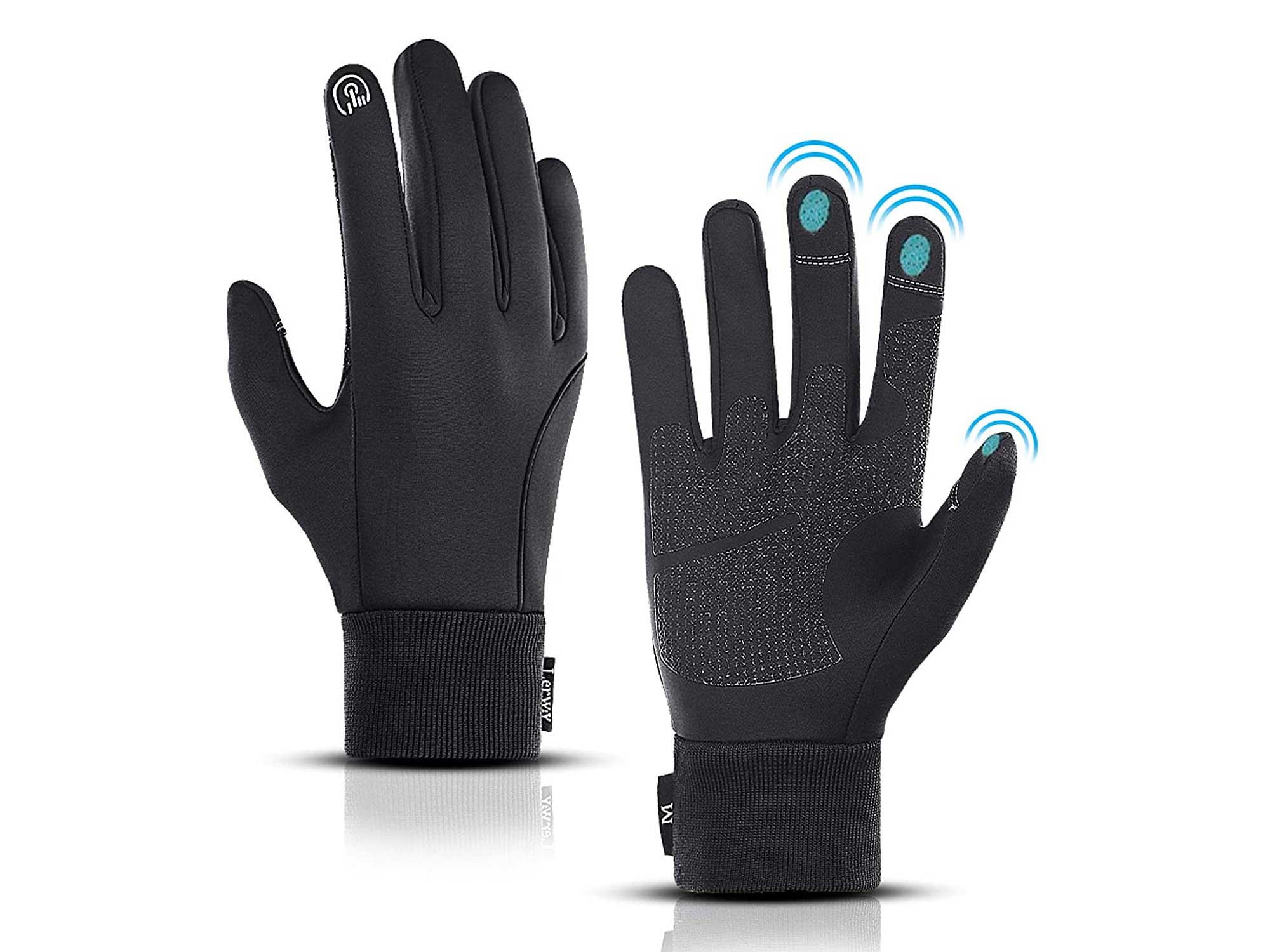 LERWAY Winter Warm Gloves, Touchscreen Gloves Windproof Water-Resistant Thermal Cotton Non-slip MTB Gloves