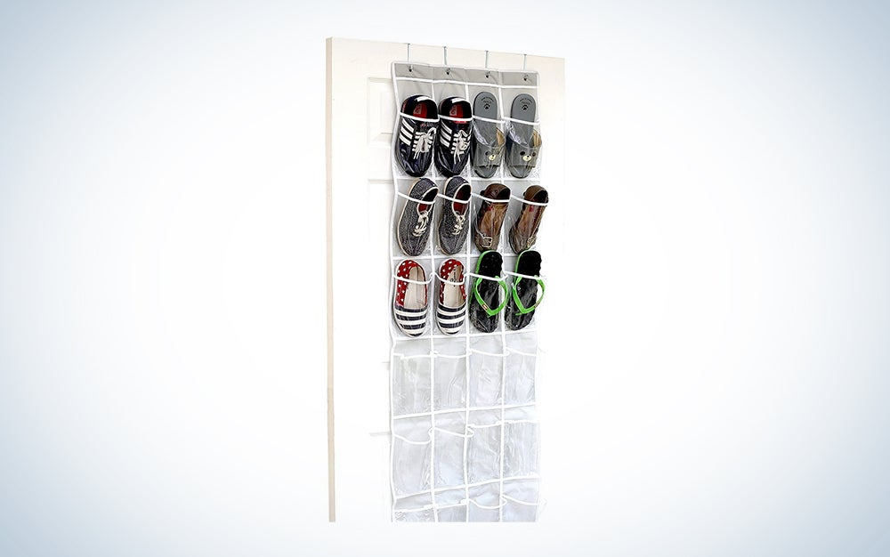 24 Pockets - SimpleHouseware Crystal Clear Over The Door Hanging Shoe Organizer